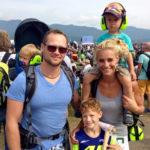 The Puster family from Spielberg enjoying two days at AIRPOWER16. Photo: Bundesheer/Koloman Költringer
